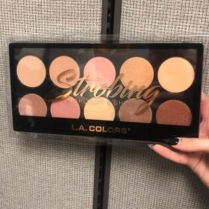 LA Colors Strobing Highlight & Shine Face Palette